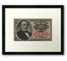 Twenty Five Cent Bill Framed Print