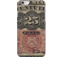 Twenty Five Cent Bill iPhone Case/Skin