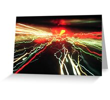 Light Trail Greeting Card