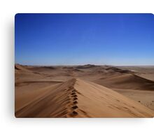 Where dunes and sky come together  Canvas Print