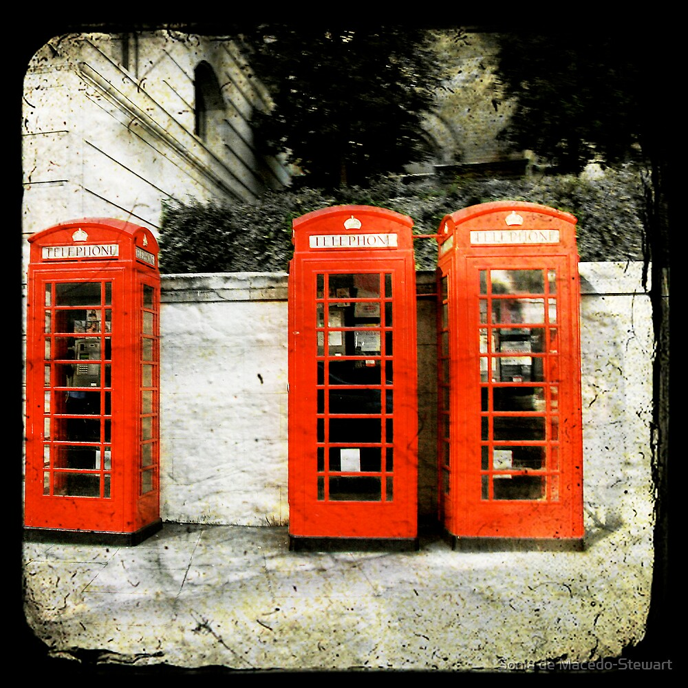 telephone booths by Sonia de Macedo-Stewart