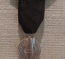 P.O.W. (Anti War Medal)... by Pamela Morris Thomford by WonderlandGlass