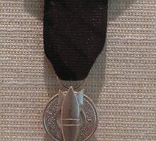 P.O.W. (Anti War Medal)... by Pamela Morris Thomford by WonderlandGlass