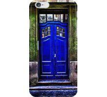 The Old Blue Door Fine Art Print iPhone Case/Skin