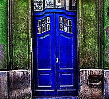 The Old Blue Door Fine Art Print by stockfineart
