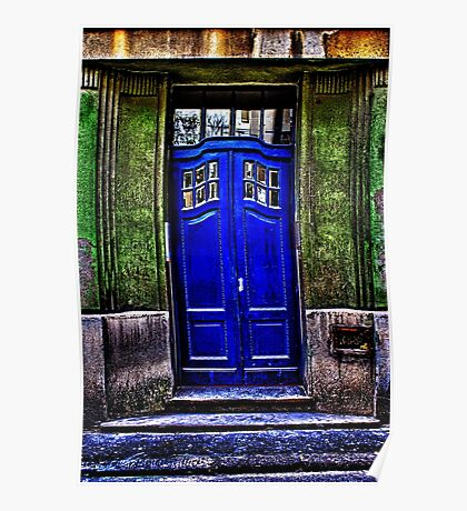 The Old Blue Door Fine Art Print Poster