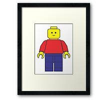 Original Lego Mini Figure Framed Print