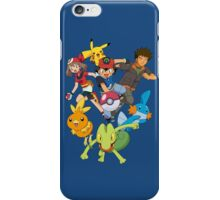 pokemon ash brock torchic mudkip treecko iPhone Case/Skin