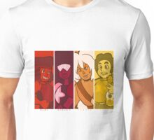 Crystal Gems in Red Unisex T-Shirt