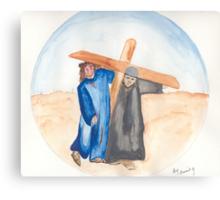 Jesus & Simon of Cyrene Canvas Print