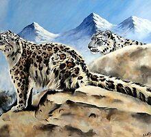 Snow Leopards by Robert David Gellion