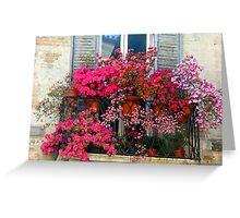 Balcony Garden Greeting Card