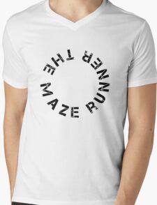 The Maze Runner (Circle) - Black Mens V-Neck T-Shirt