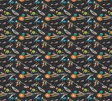 Space Age Retro Pattern by tinaodarby