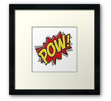 POW! Inspiration from Superhero Comics. Framed Print