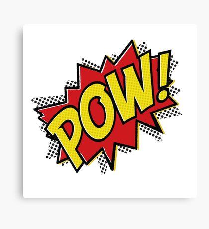 POW! Inspiration from Superhero Comics. Canvas Print