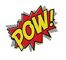 POW! Inspiration from Superhero Comics. Photographic Print