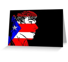 Puerto Rico Face Greeting Card