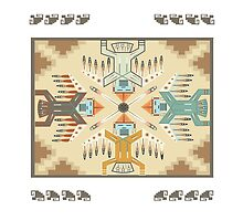 American Native Pattern No. 22 by BakmannArt