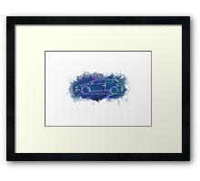 VW Scirocco - Single Line Framed Print
