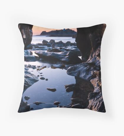 Between rocks and hard places II Throw Pillow