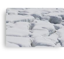 Seashore Snow Blocks Canvas Print