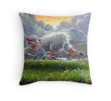 One Step Ahead of the Pack Throw Pillow
