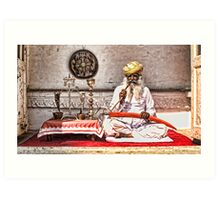 Opium Man - India Art Print