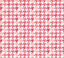 Chanel Fashion Print -   Pink Houndstooth Pattern by timnagreen