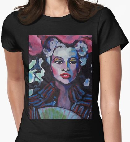 Colorful Lady Tee Womens Fitted T-Shirt