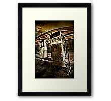 Abandoned Gas Framed Print