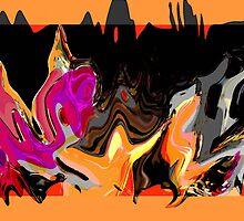 New Original Painting ~Autumn Night Shadows~ by ecinja