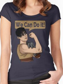 SHE can do it! Women's Fitted Scoop T-Shirt