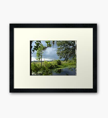 Storm on its way... Framed Print