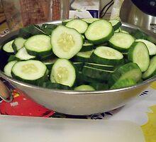 Sliced Cucumbers by Diane Trummer Sullivan