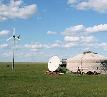 Mongolia   , Wind  Mill by yoshiaki nagashima