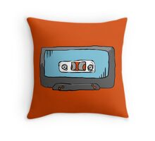 Blue Mix Tape Throw Pillow