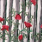 Poppies on the Fence by Karirose