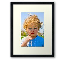 One tear only............ Framed Print