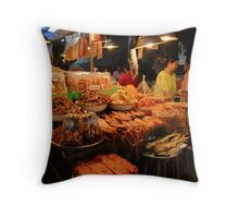 Dried Seafood Throw Pillow