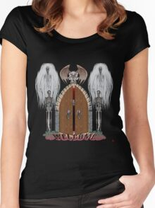 GOTHIC DOORS/ WELCOME Women's Fitted Scoop T-Shirt