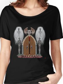 GOTHIC DOORS/ WELCOME Women's Relaxed Fit T-Shirt