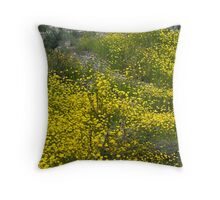 Showy everlastings Throw Pillow