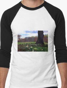 Springing Forward at Edgemont Golf Course Men's Baseball ¾ T-Shirt