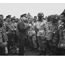 Ike Talking With Airborne On D-Day Photographic Print