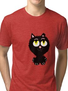 A Cute Black Cat  Tri-blend T-Shirt