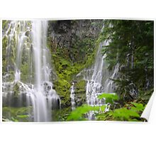 Base of Upper Proxy Falls Poster