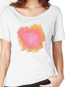Ribbons of White Pink and Yellow Women's Relaxed Fit T-Shirt