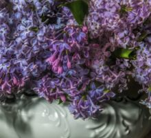 Lilacs in white china kettle Sticker
