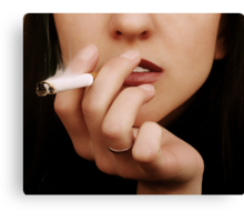 The Smoking woman Canvas Print